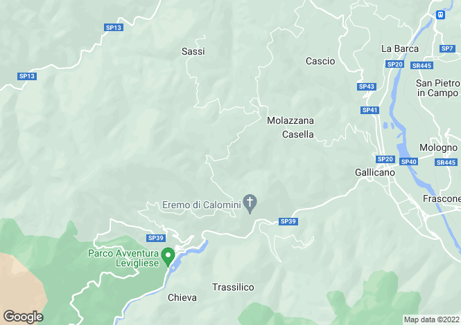 Map for Molazzana, Lucca, Tuscany