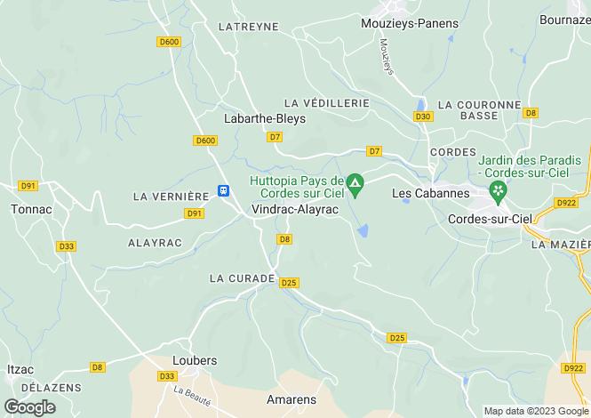 Map for Proche/Near Vindrac Alayrac, Tarn