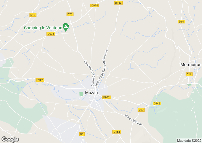 Map for mazan, Vaucluse, France
