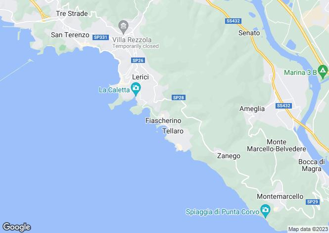 Map for Lerici, La Spezia, Italy