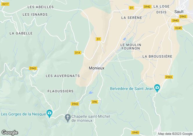 Map for Provence-Alps-Cote d`Azur, Vaucluse, Monieux