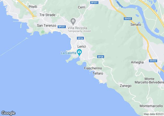 Map for Liguria, La Spezia, Lerici