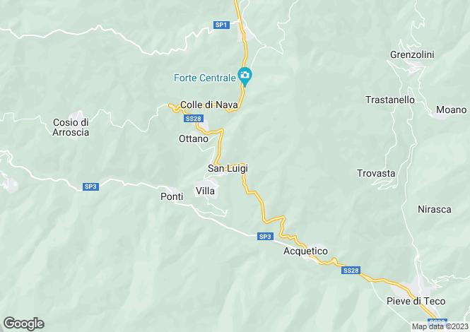 Map for Liguria, Imperia, Pornassio
