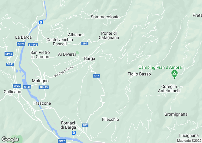 Map for Tuscany, Lucca, Barga