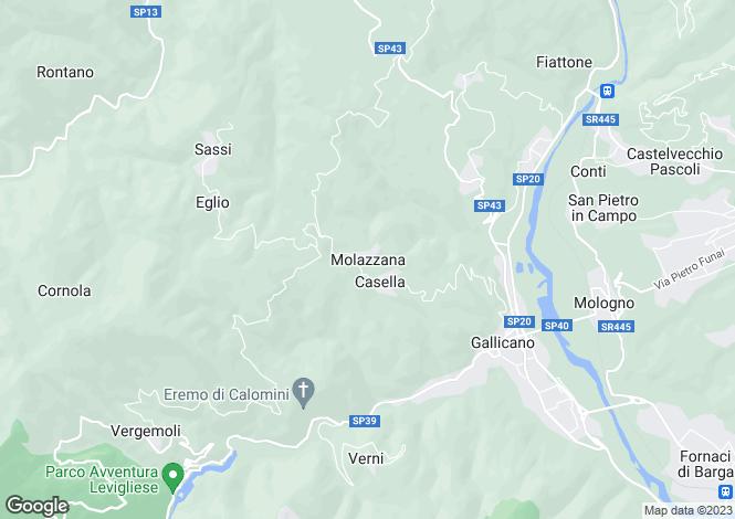 Map for Molazzana, Tuscany, Italy