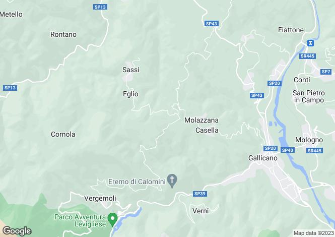 Map for Molazzana, Lucca, Tuscany