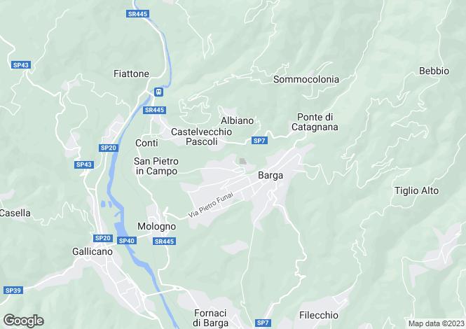 Map for Tiglio, Barga, Tuscany, Italy