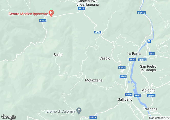Map for Molazzana, Toscana, 046020, Italy