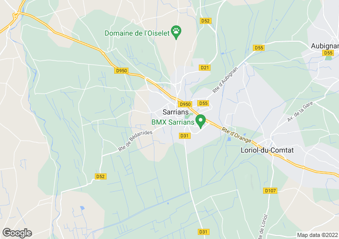 Map for sarrians, Vaucluse, France