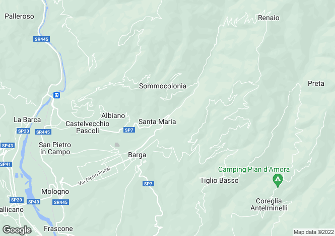 Map for Barga, Lucca, Tuscany