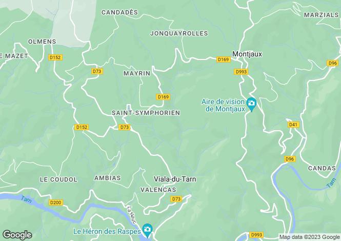 Map for Midi-Pyrenees, Aveyron, Viala-du-Tarn