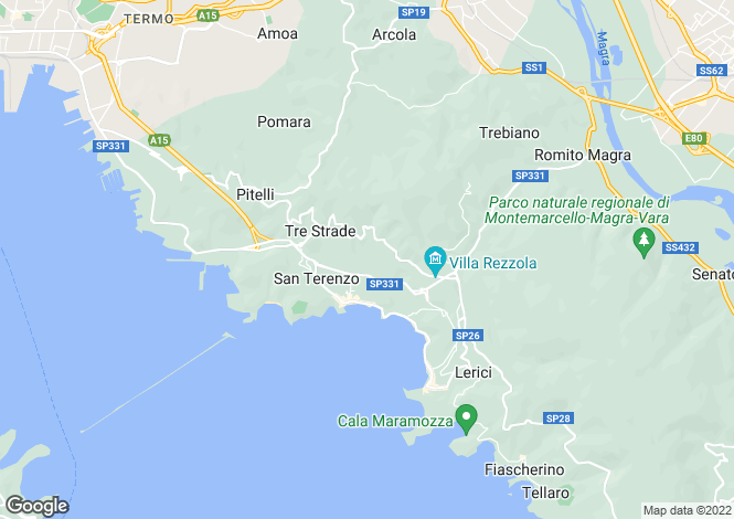 Map for Lerici, La Spezia, Liguria