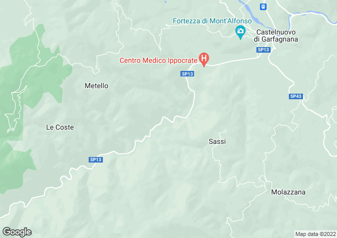 Map for Castelnuovo DI Garfagnana, Toscana, 046009, Italy
