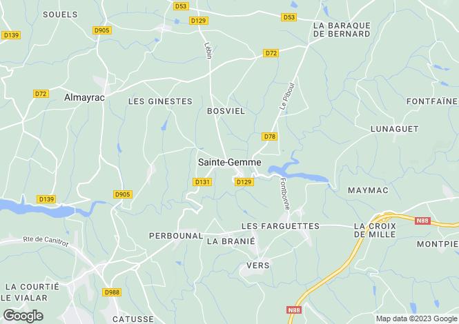 Map for Proche/Near Sainte Gemme, Tarn