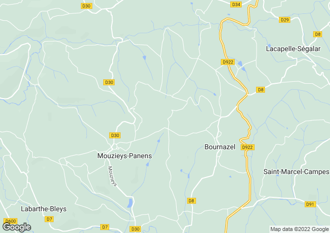 Map for MOUZIEYS PANENS, 81170, France
