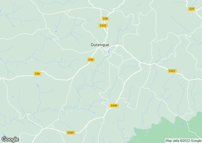 Map for Midi-Pyrenees, Aveyron, Durenque