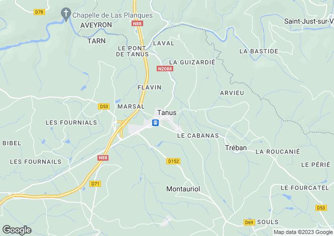 Map for Proche / Near Tanus, Tarn