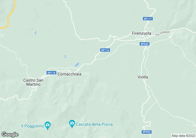Map for Italy - Tuscany, Florence, Firenzuola