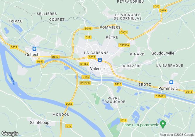 Map for Secteur: Valence, Tarn et Garonne
