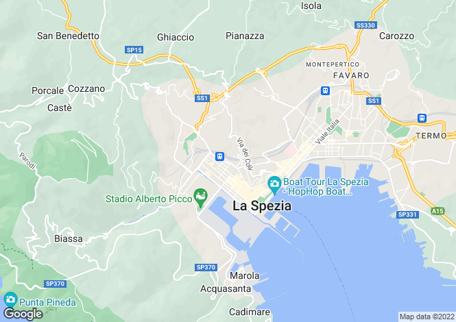 Map for La Spezia, La Spezia, Liguria