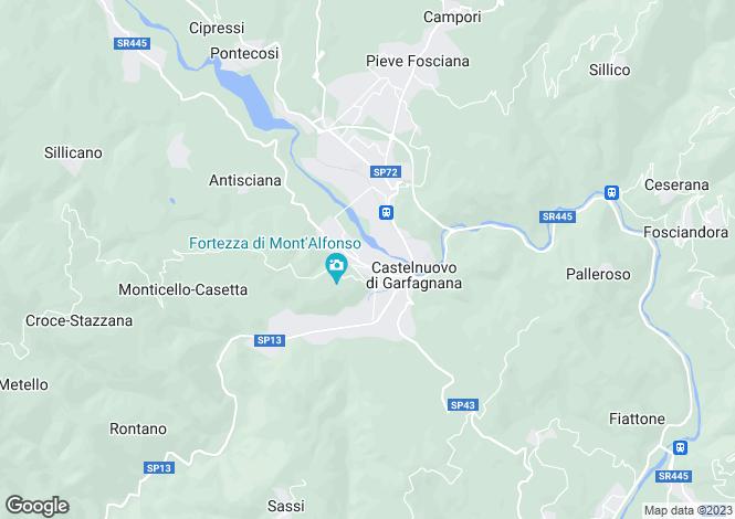 Map for Tuscany, Lucca, Castelnuovo di Garfagnana