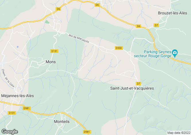 Map for st-just-et-vacquieres, Gard, France