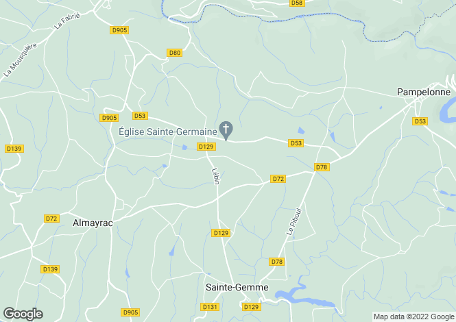 Map for Midi-Pyrénées, Tarn, Mirandol-Bourgnounac