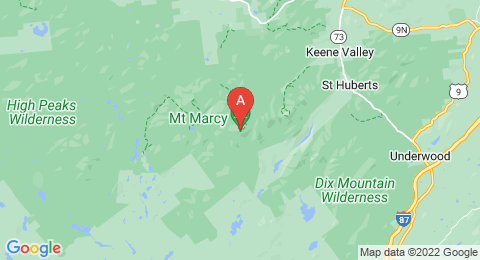 map of Mount Marcy (United States of America)