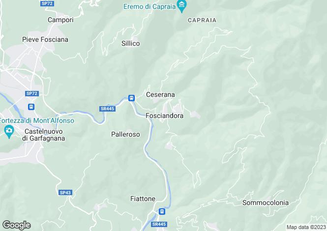 Map for Tuscany, Lucca, Fosciandora