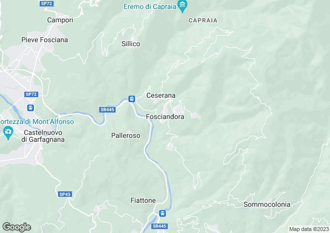 Map for Lucca Fosciandora