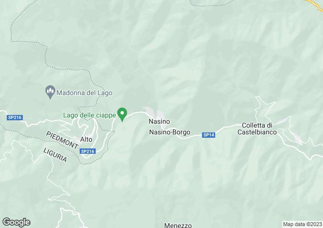 Map for Liguria, Savona, Cisano sul Neva