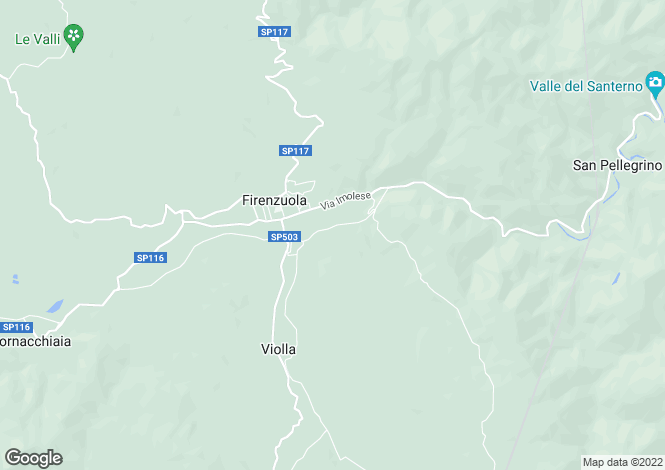 Map for Firenzuola, Italy
