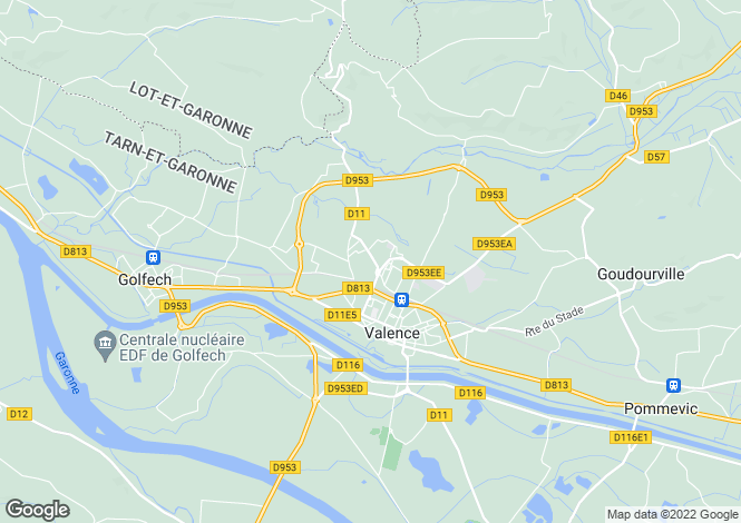 Map for Valence, Tarn-et-Garonne, 82400, France