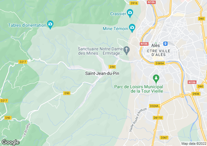 Map for st-jean-du-pin, Gard, France