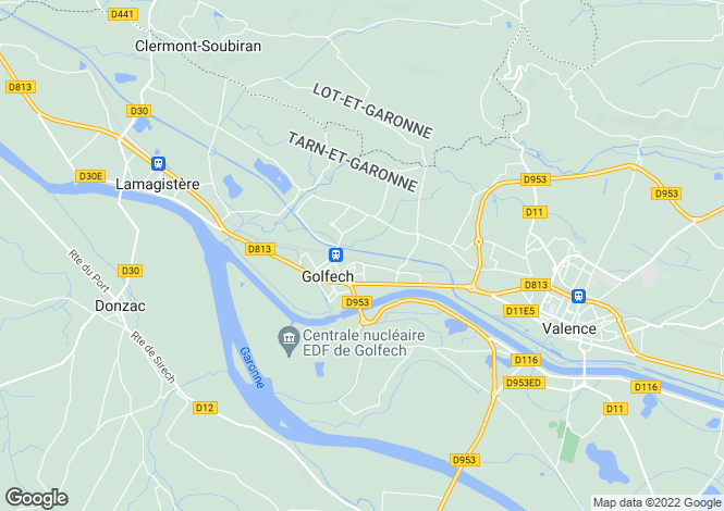 Map for Golfech, Tarn-et-Garonne, 82400, France