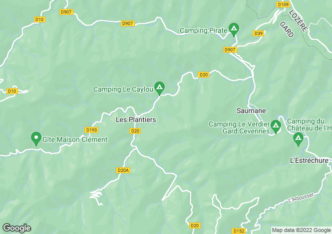 Map for les-plantiers, Gard, France