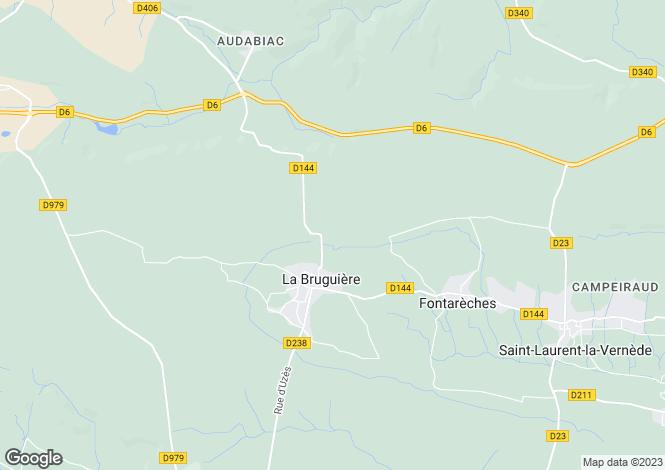 Map for la-bruguiere, Gard, France