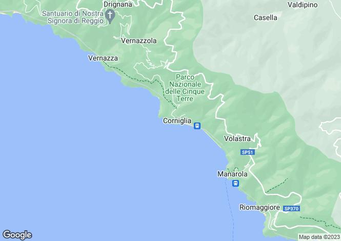 Map for Liguria, La Spezia
