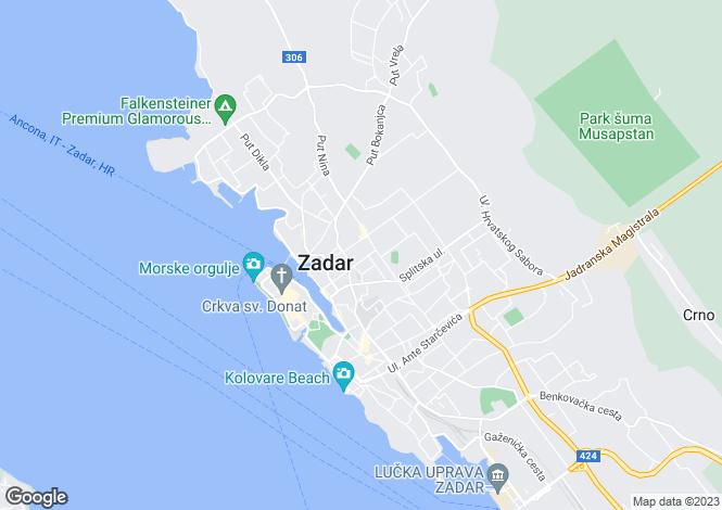 Map for Zadar, Zadar