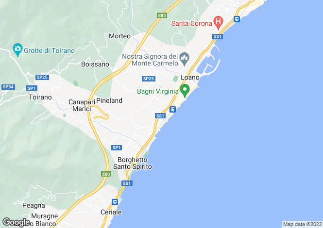 Map for Loano, Savona, Liguria