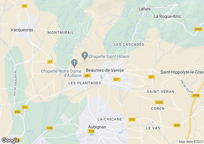 Map for 84190, Beaumes-de-Venise, Vaucluse