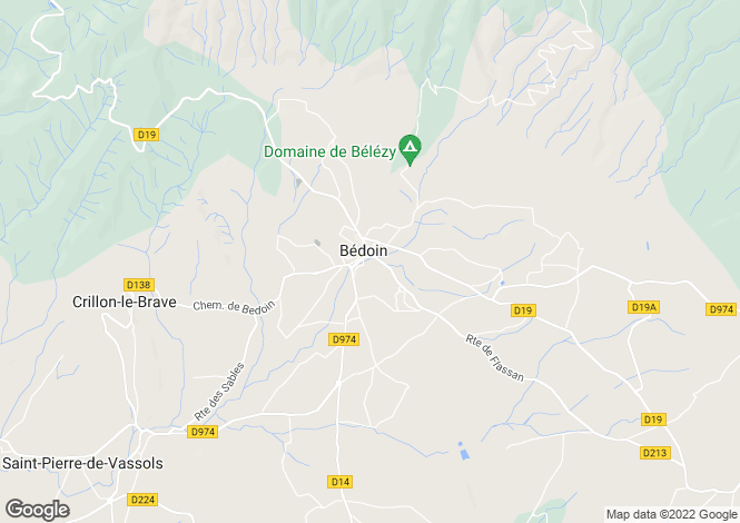Map for bedoin, Vaucluse, France