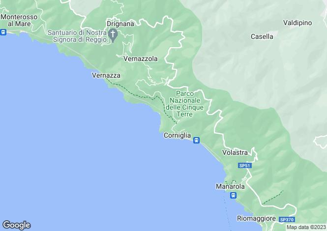 Map for Liguria, La Spezia, Monterosso al Mare