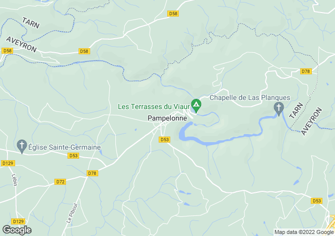 Map for Proche / Near Pampelonne, Tarn