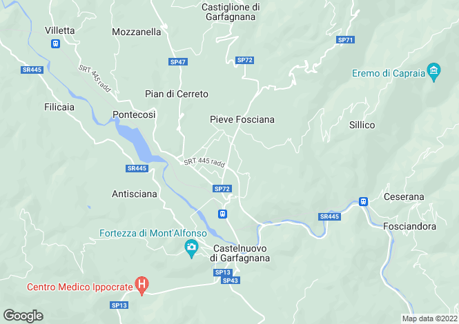 Map for Tuscany, Lucca, Pieve Fosciana