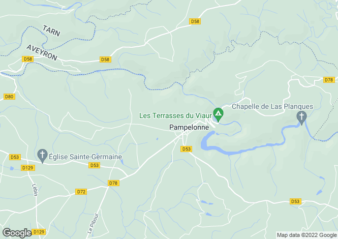 Map for Midi-Pyrenees, Tarn, Pampelonne