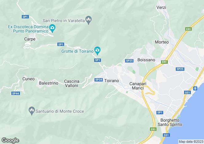 Map for Liguria, Savona, Boissano