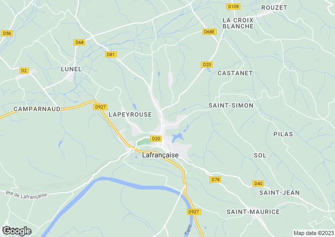 Map for lafrancaise, Haute-Garonne, France