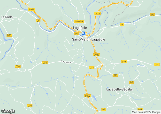 Map for LAGUEPIE, 82250, France