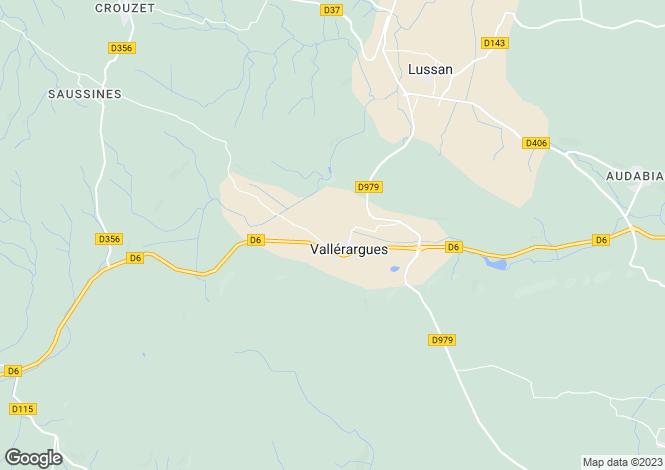 Map for vallerargues, Gard, France